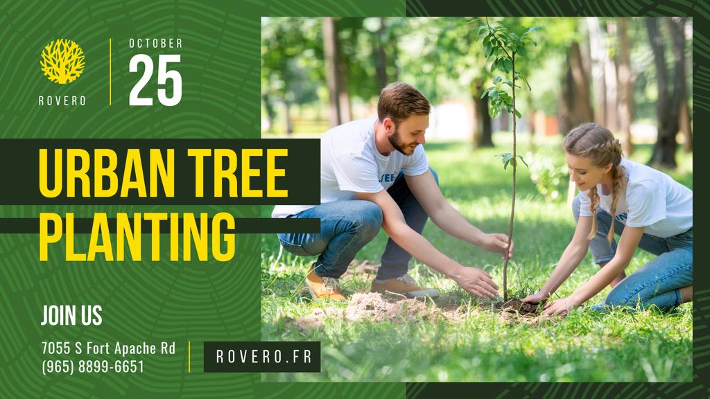 Volunteer Event Team Planting Trees  — Create a Design