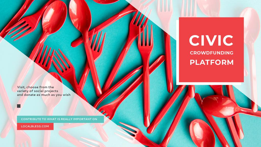 Crowdfunding Platform Red Plastic Tableware — Create a Design