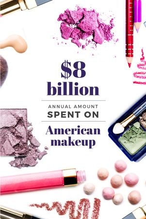 Plantilla de diseño de American makeup statistics Pinterest