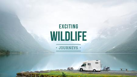Wildlife journeys Ad with Scenic Landscape Presentation Wide Design Template