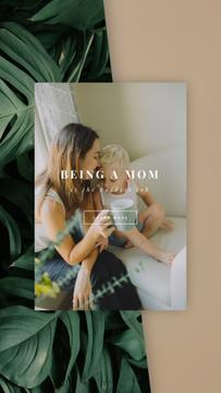 Mother's Day Greeting Child with Loving Mother | Vertical Video Template
