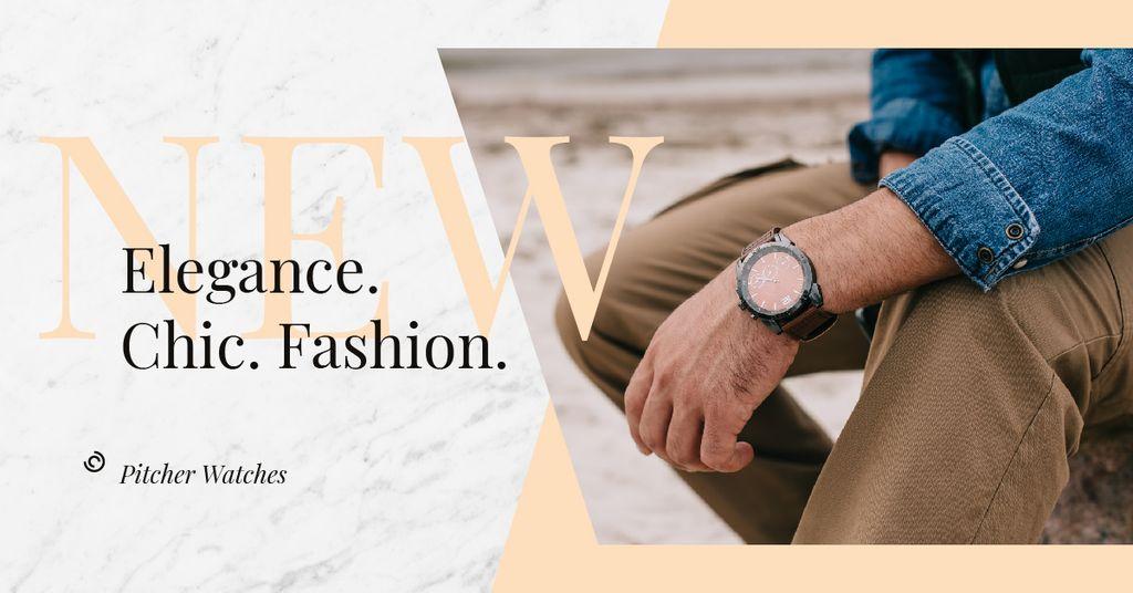 Szablon projektu Watch on male wrist Facebook AD