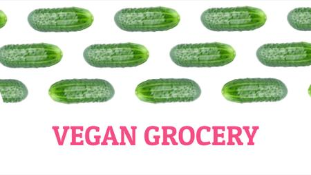 Template di design Grocery Ad Raw Green Cucumbers in Rows Full HD video