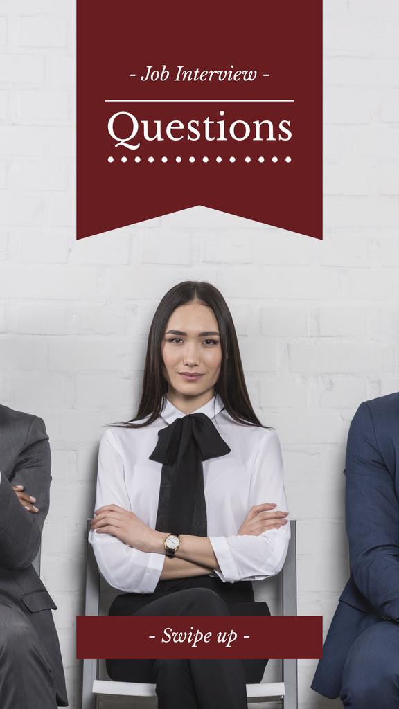 Successful Business people in Interview Queue — Створити дизайн