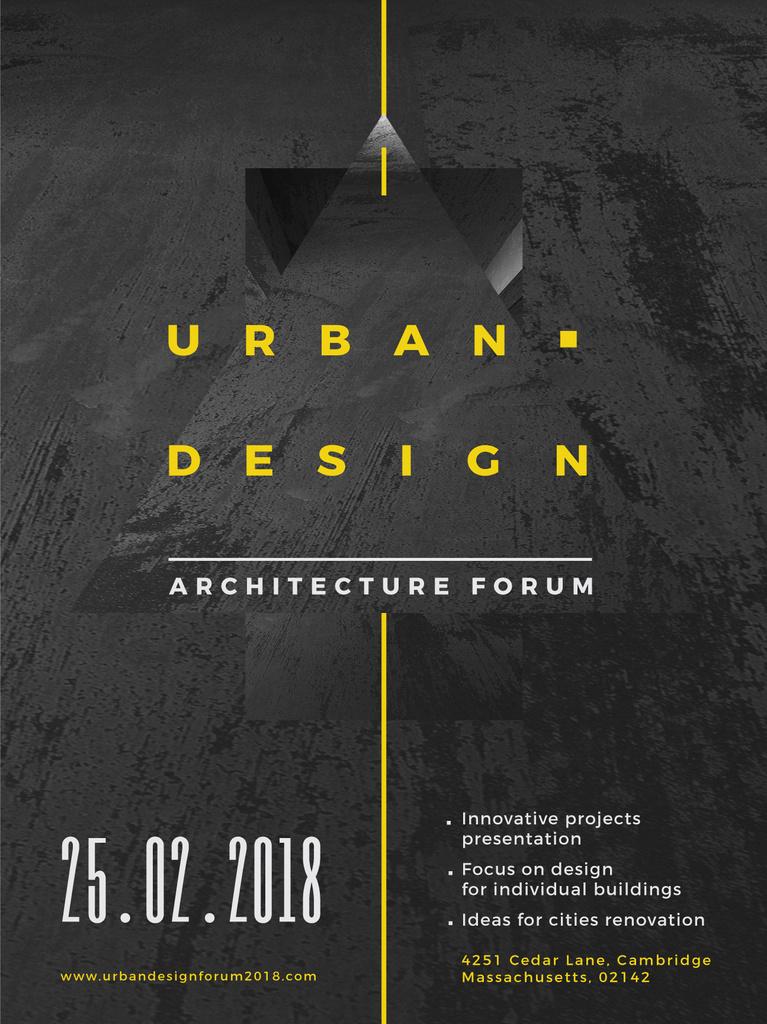 Urban Design event annoouncment with Concrete wall — Создать дизайн