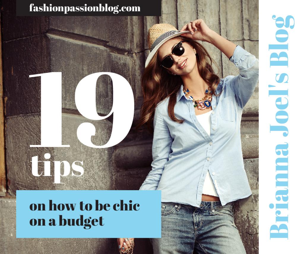 Fashion Tips Woman wearing Hat and sunglasses — Crear un diseño