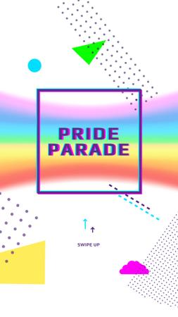 Template di design LGBT pride parade announcement Instagram Story