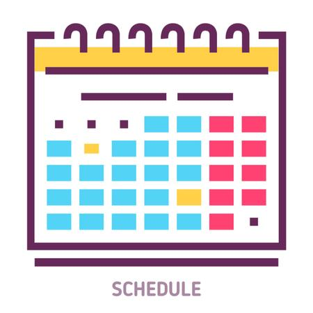 Plantilla de diseño de Schedule calendar icon Animated Post