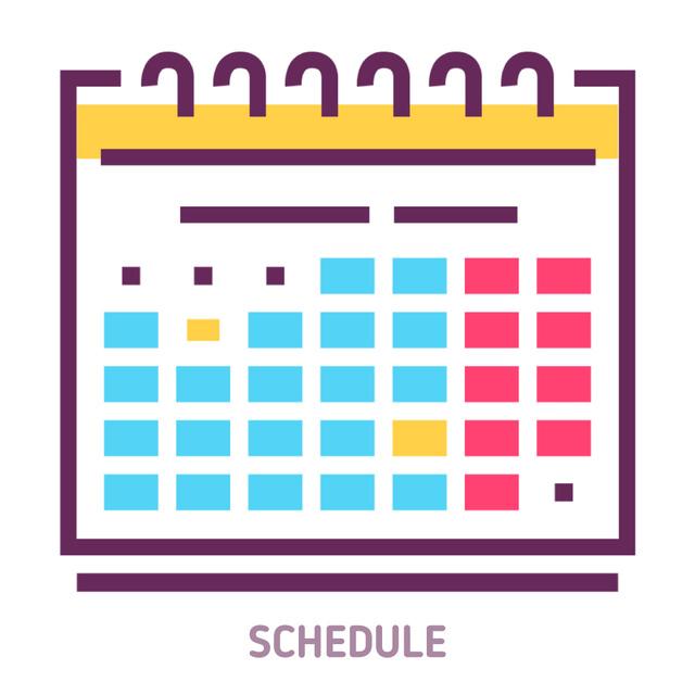 Schedule calendar icon Animated Post Tasarım Şablonu