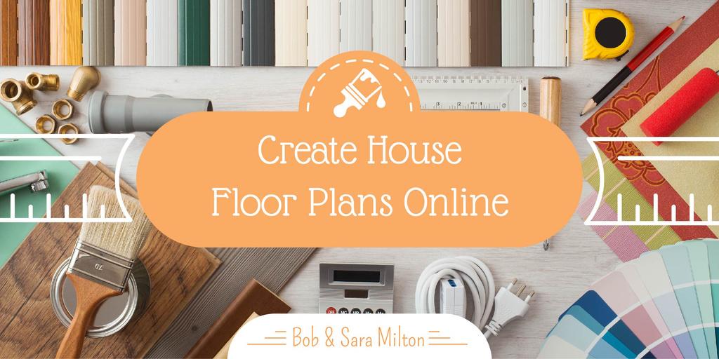 Create house floor plans banner — Créer un visuel