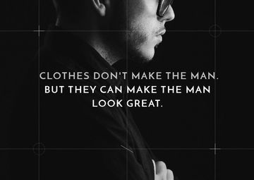 Fashion Citation with Stylish Man
