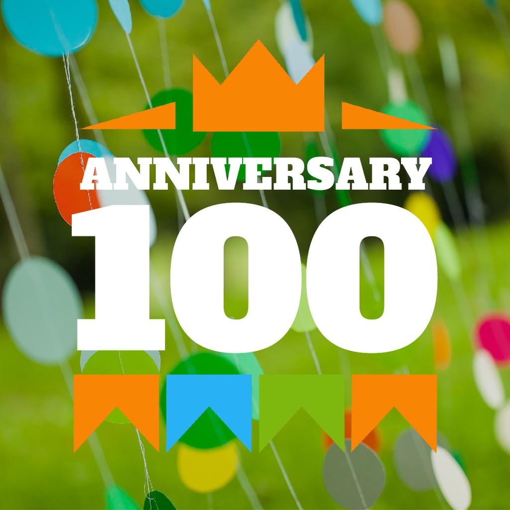 Anniversary celebration with Bright Decorations — Create a Design