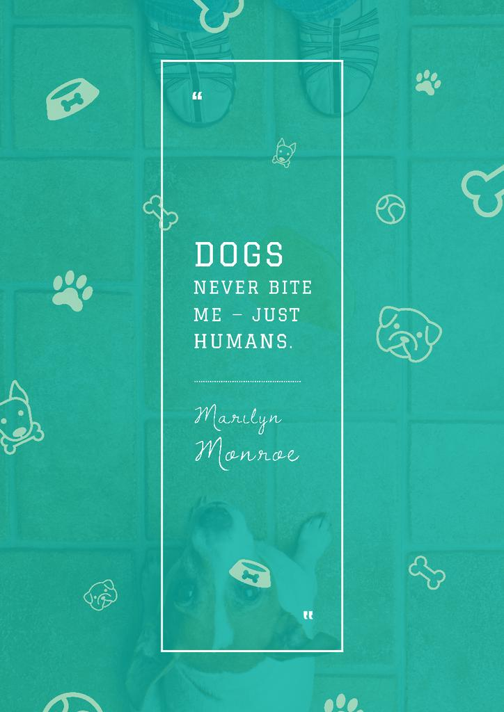 Citation about good dogs — Create a Design