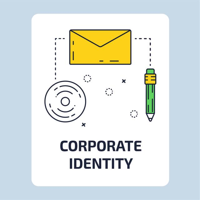 Business file icon Animated Postデザインテンプレート