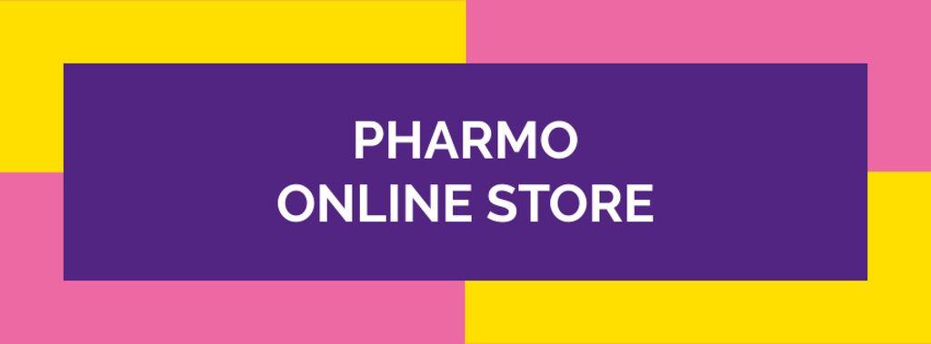 Drug Store Ad on colorful pattern — Modelo de projeto