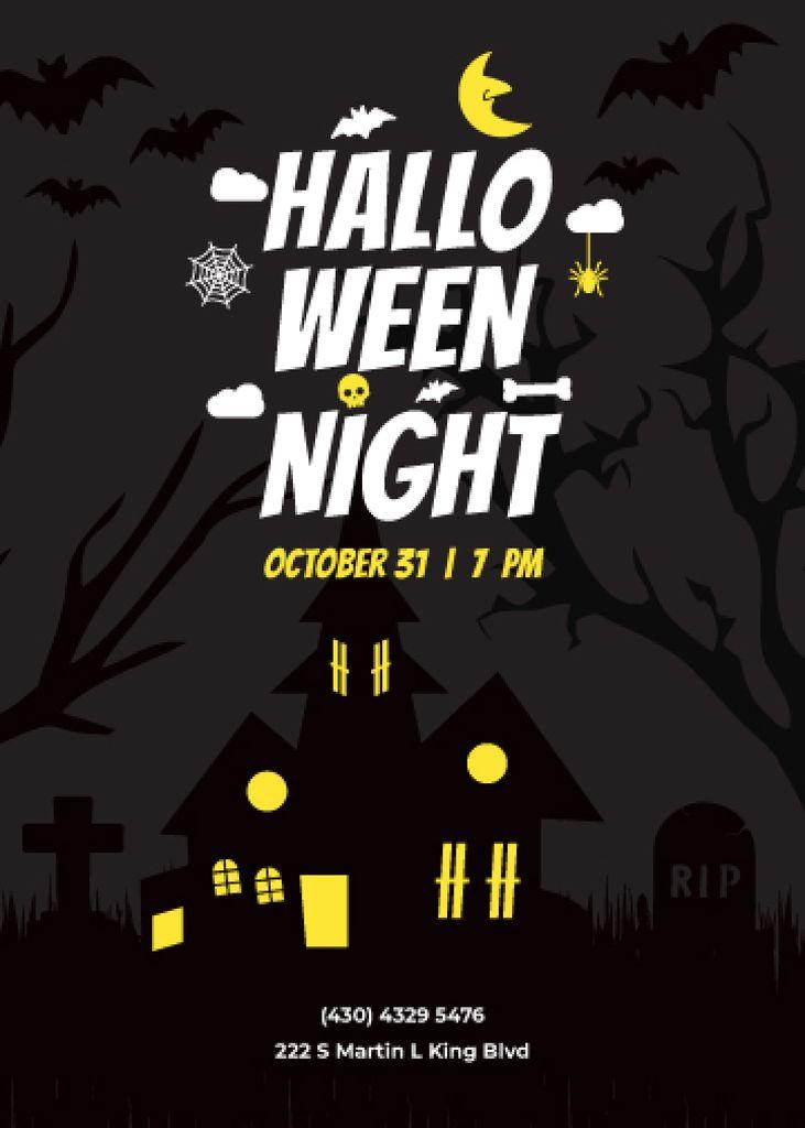Halloween scary house — Create a Design