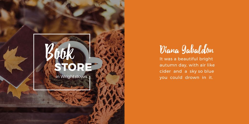 Bookstore advertisement banner with quote — Create a Design