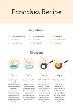 Pancakes Cooking Process