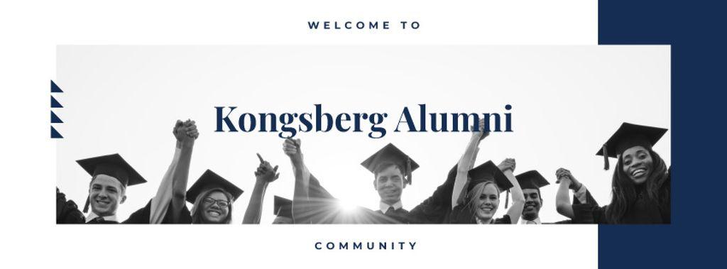 Students celebrating graduation — Створити дизайн