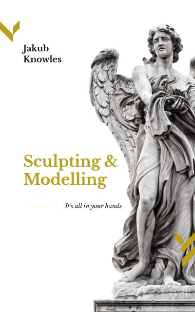 Template di design Angel Stone Statue Book Cover