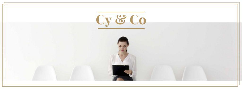 Businesswoman waiting for Job interview — Maak een ontwerp