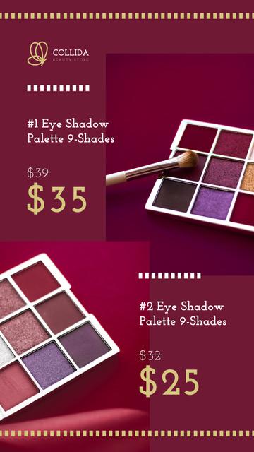 Modèle de visuel Palette with Colorful Eyeshadows - Instagram Story