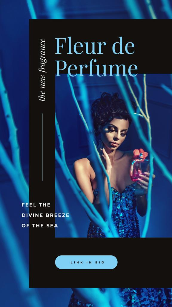 Template di design Woman applying perfume Instagram Story