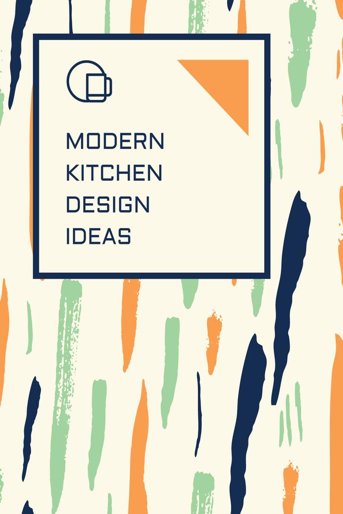 Kitchen Design Ad Colorful Smudges — Crea un design