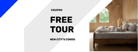 Real Estate Offer with modern interior Couponデザインテンプレート