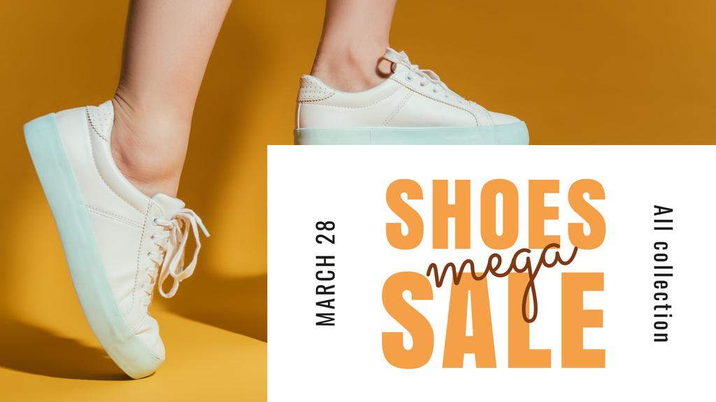 Shoes Sale Female Legs in Sports Shoes — Создать дизайн