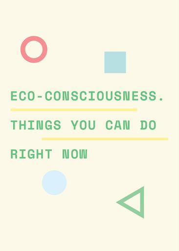 Eco Consciousness Concept With Simple Icons