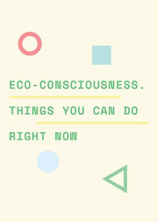 Ontwerpsjabloon van Flayer van Eco-consciousness concept with simple icons