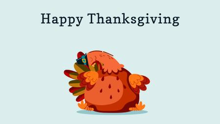 Template di design Funny thanksgiving turkey Full HD video