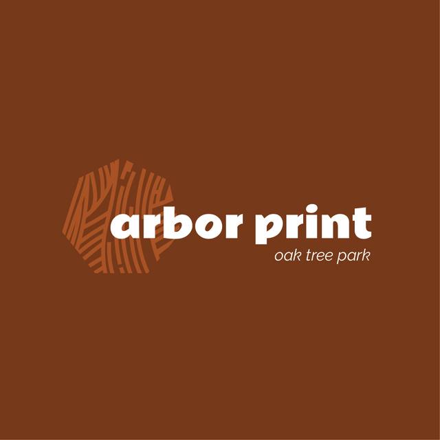 Park Ad with Tree Texture Icon Logo – шаблон для дизайну