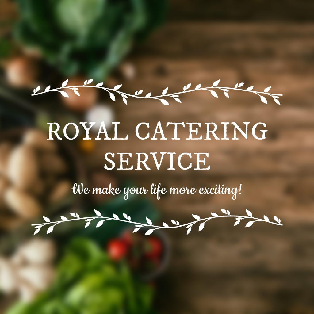 Royal catering service advertisement — Create a Design