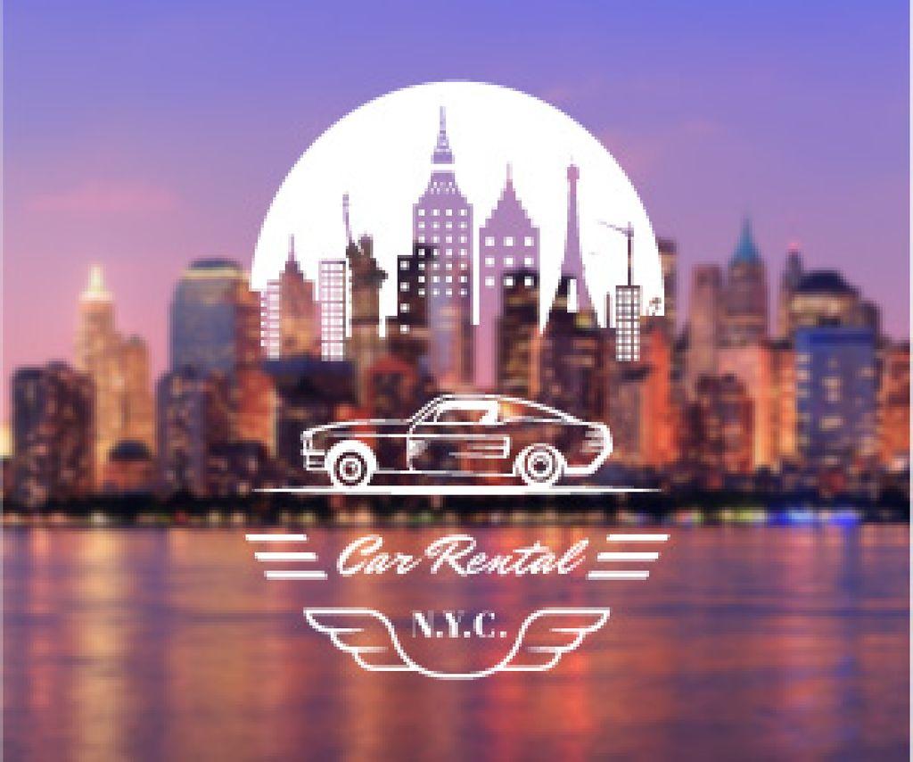 Car rental service poster — Создать дизайн
