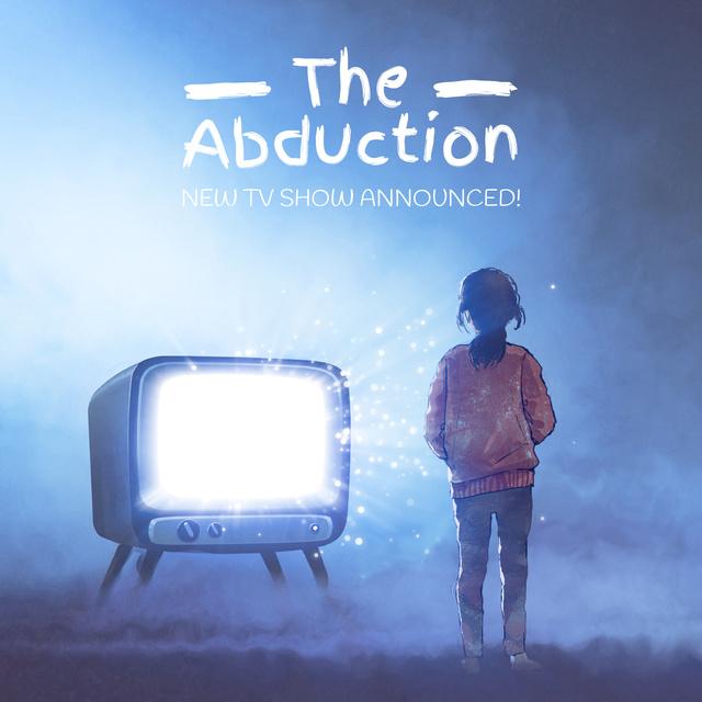 Girl watching tv with bright screen Animated Post – шаблон для дизайну
