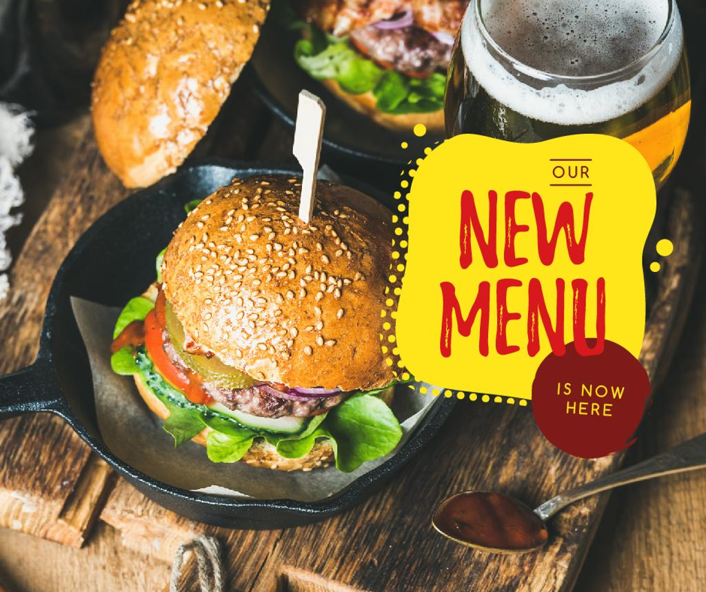 Fast Food menu Tasty burger —デザインを作成する