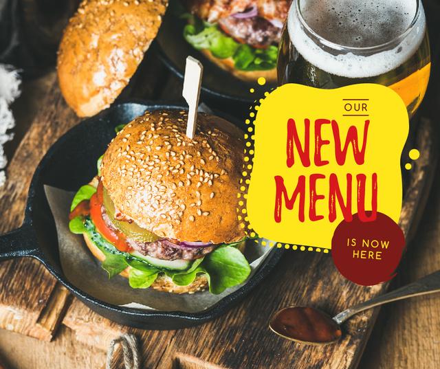 Fast Food menu Tasty burger Facebook Tasarım Şablonu