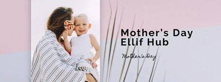 Template di design Child with loving mom on Mother's Day Facebook Video cover