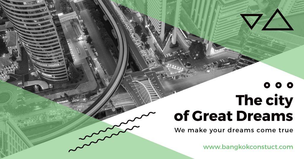 City View on Black and White — Modelo de projeto
