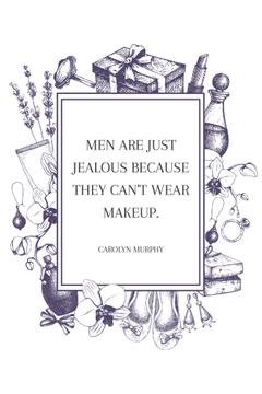 Citation about men with makeup