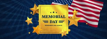 USA Memorial Day waving Flag