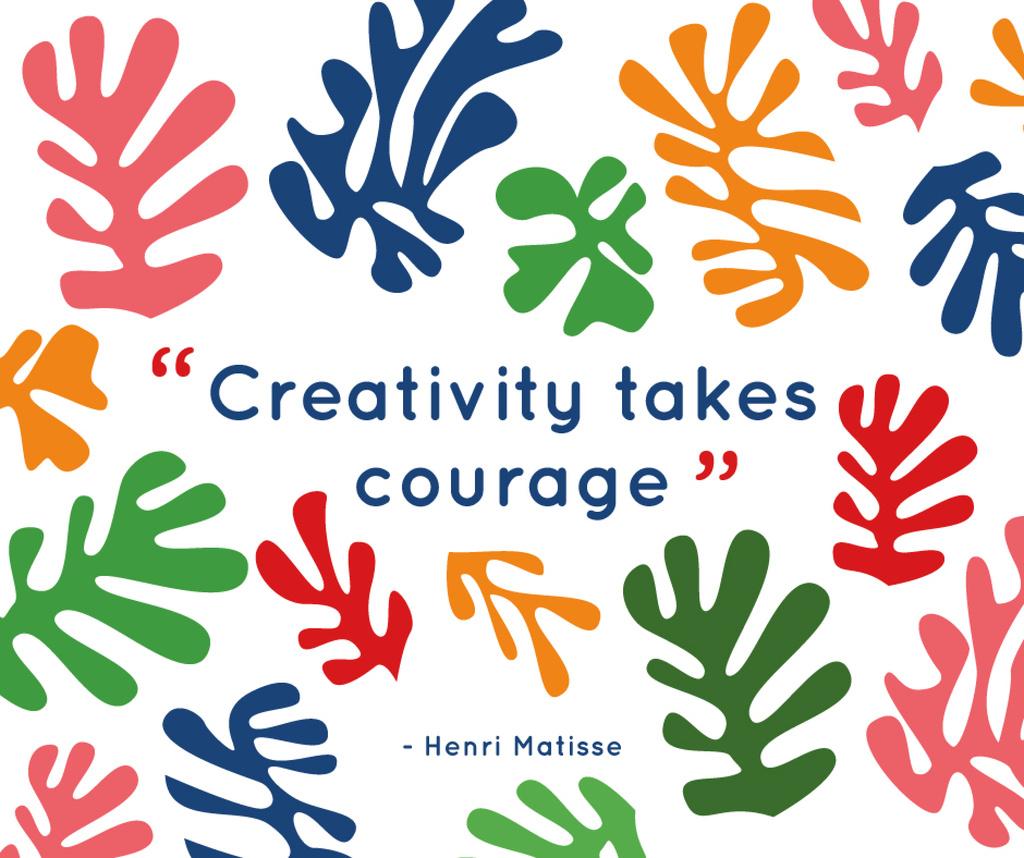 Creativity Quote on Colorful Spots | Facebook Post Template — Modelo de projeto