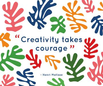 Creativity Quote on Colorful Spots