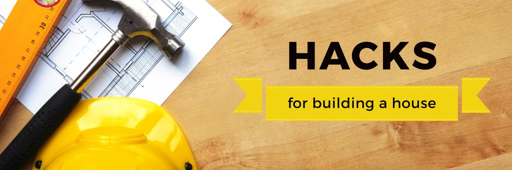 Hacks for building a house poster —デザインを作成する