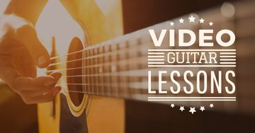 Video Guitar Lessons Man Playing Music