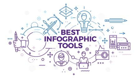 Best infographic tools Presentation Wide Modelo de Design