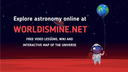 Template di design Astronaut holding Earth balloon Full HD video
