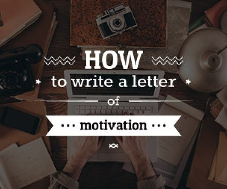 how to write a letter of motivation poster Medium Rectangle Tasarım Şablonu